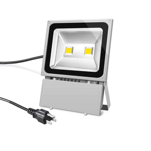 LED Flood Light 6500K Outdoor Spotlight IP65 Waterproof Security Lights with US 3-Plug