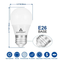 LED Light Bulbs, 5W DSW 3-in-1 White Non Dimmable LED Bulbs 40W Equivalent E26 Base Energy Saving Light Bulbs for Table Lamps Floor Lamps Pendant Fixtures Ceiling Fixtures - 1 Pack