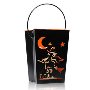 Halloween Witch Flameless Candle Outdoor Garden Decorative Lantern, 7""