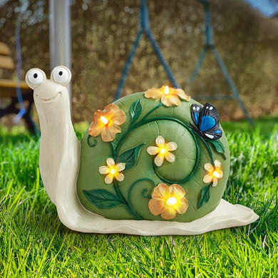 Solar Snail Lights, Solar Garden Lights Outdoor, Snail Solar Powered Lights for Lawn Decorations and Gift