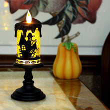Halloween Tornado LED Lighting Flameless Candle, Battery Operated Table Centerpiece for Home and Party - Bat