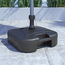 Kanstar Hard  Plastic Weighted Self Fill Watter Sand Patio Umbrella Base/Stand UV Protected Perfect for Garden, Patio or Other places (Square)