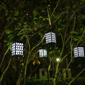 Waterproof Solar Garden Lights, Solar Powered LED Hanging Lantern Lights for Outdoor, Garden Yard, Lawn, Patio, Pavilion Camping (Pack of 2)