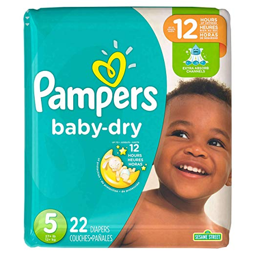 Pampers Baby Dry Diapers - Size 5 - 22 ct
