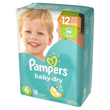 Pampers Baby Dry Diapers - Size 6- 18 ct