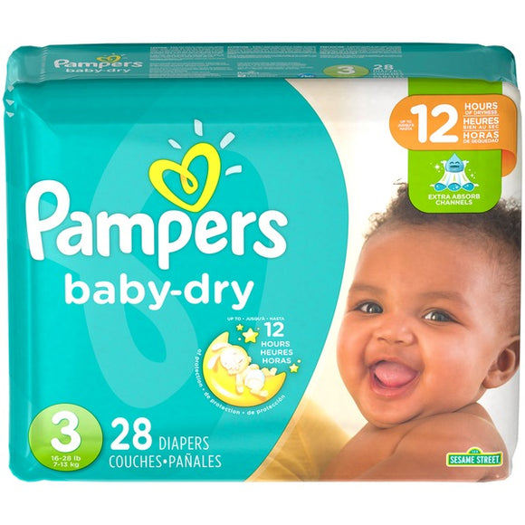 Pampers Baby Dry Diapers Size-3, 28 Count
