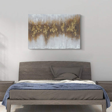Kanstar Canvas Wall Art - Abstract Gloden Giclee Print Gallery Canvas Wrap Modern Home Decor Ready to Hang