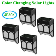 Solar Powered color changing night Light Outdoor Landscape Garden Yard Fence (Warm White)