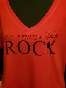 """RED"" Real Estate Ladies Rock Shirt"