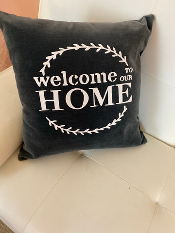 New!!! Welcome Pillow, Housewarming gift pillow