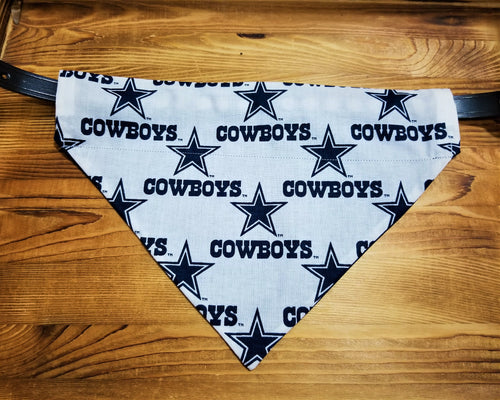 Dallas Cowboys Dog Bandana (White)