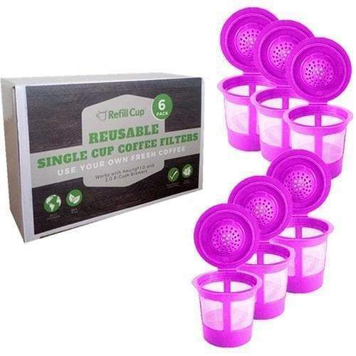 6 Pack Reusable K Cups   Refillable Single Cup