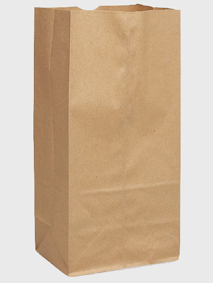 "Brown Paper Bag #16 7 3/4"" x 4 13/16"" x 16"" BB16 - 500/Bundle"