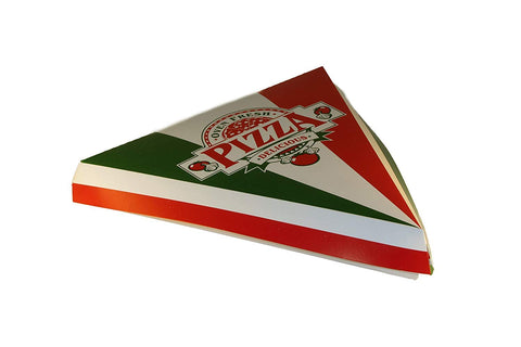 "SQP Two Color Clamshell Pizza Slice Box 9""- 200/Case"