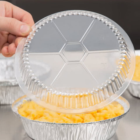 "superior-equipment-supply - Handi-Foil of America - Handi-Foil 7"" Round Clear Dome Lid For Foil Pan - 500/Case"