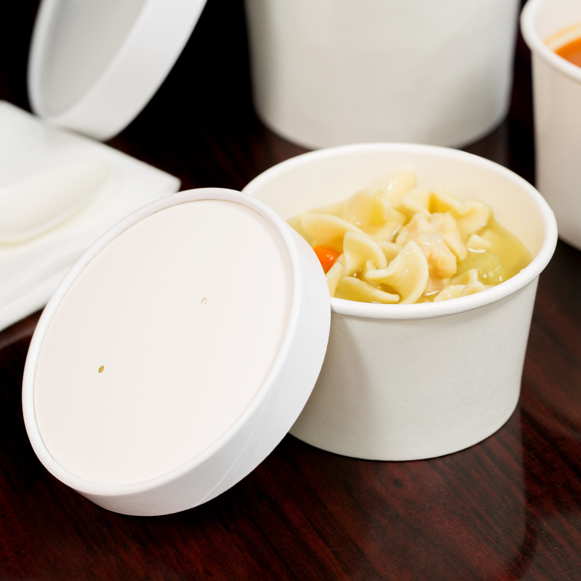superior-equipment-supply - Dart Mfg - Paper Food Container Combo White 8 oz. With Lid  - 250/Case