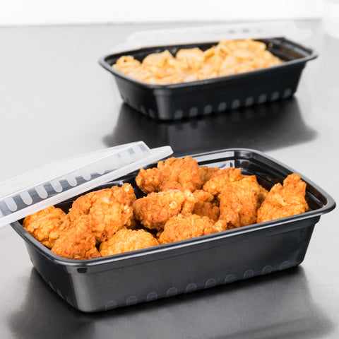 "superior-equipment-supply - Next Century - Next Century 38 oz. Plastic Oblong Microwaveable Container With Lid 8"" X 6"" - 150/Case"
