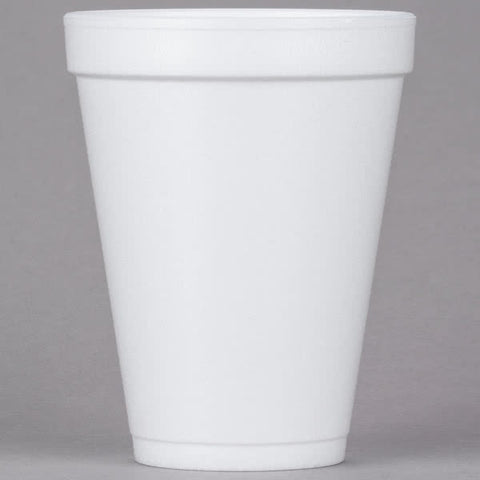 Dart White Foam Cup 12 oz. 12J12 - 1000/Case