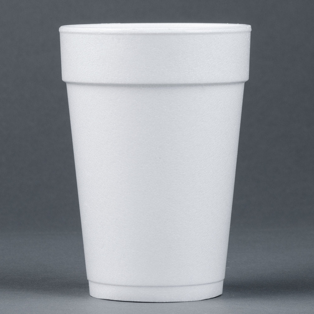 superior-equipment-supply - Dart Mfg - Dart White Foam Cup 14 oz. 14J16 - 1000/Case