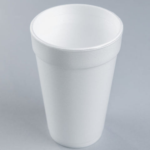 Dart White Foam Cup 16 oz. 16J16 - 1000/Case