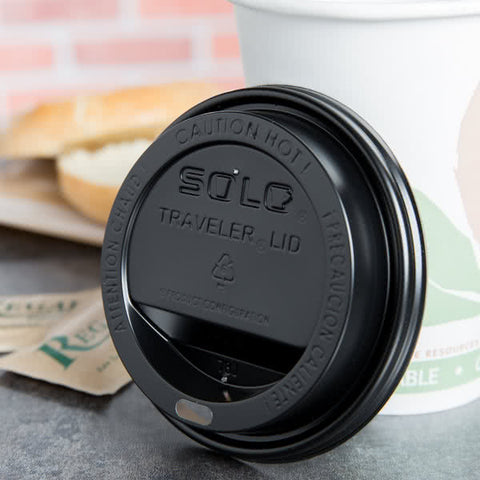 superior-equipment-supply - Solo - Solo Dome Lid Black For Paper Hot Cup 10-20 oz. TLB316-0004 - 1000/Case