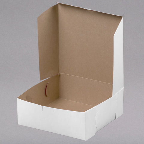 "superior-equipment-supply - Honeymoon - White Pie Box Locking Corner 8"" X 8"" X 3""- 250/Case"