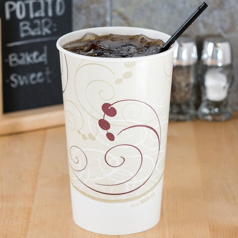 Solo Paper Cold Cup Printed Symphony 44 oz. - 500/Case