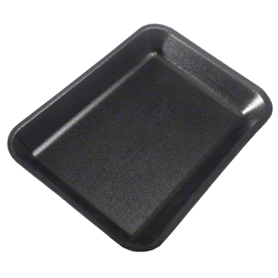 Dyne-A-Pack Meat Foam Tray Black 2 - 500/Case