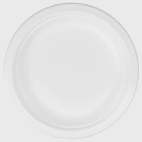 "Biodegradable Plate 6"" - 1000/Case"