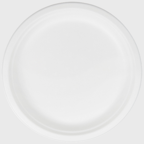 "Biodegradable Plate 10"" One Compartment - 500/Case"