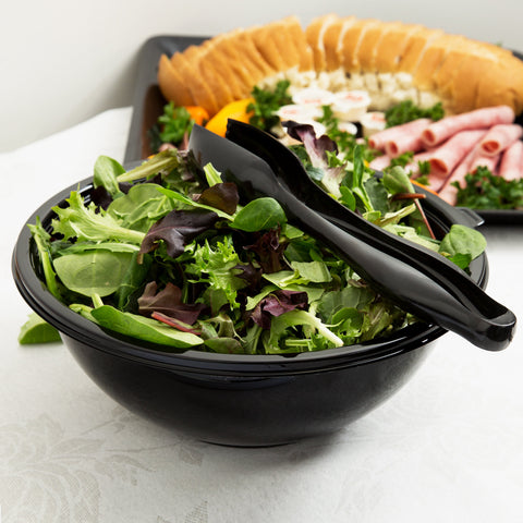 Black PET Plastic 160 oz. Salad Bowl EMI-PTB160-12B - 25/Case