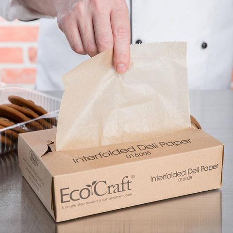 "Brown Paper Goods Kraft Deli Deli Paper 10"" X 10-3/4"" - 6000/Case"