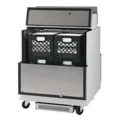 "superior-equipment-supply - Turbo Air - Turbo Air 34"" Wide Stainless Steel Single Access Milk Cooler"