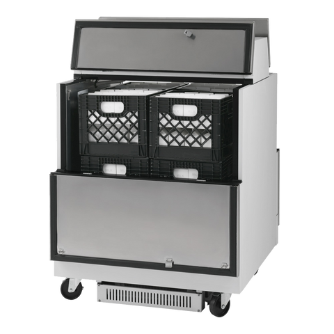 "superior-equipment-supply - Turbo Air - Turbo Air 34"" Wide White Vinyl/Stainless Steel Milk Cooler"