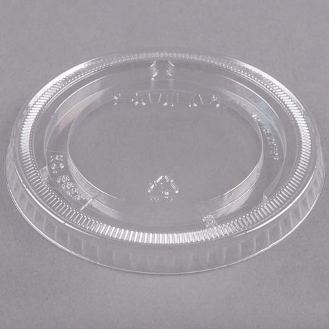 Solo Plastic Clear Cup Flat Lid Non-Vented For  9-12 oz. Cup 662TP - 1000/Case