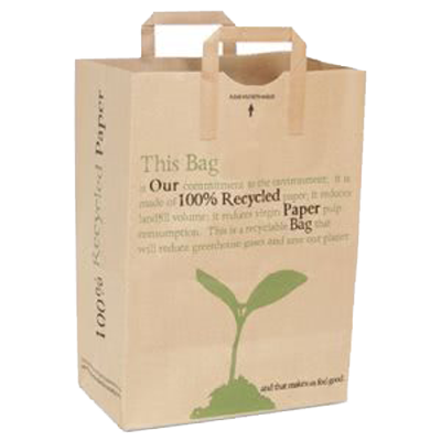 Duro Kraft 1/6 Printed Recycled Handle Bag 70#  - 300/Bundle