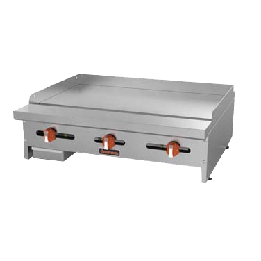"superior-equipment-supply - MVP Group - Sierra Stainless Steel Counterop Three Burner Gas Griddle 36""W"