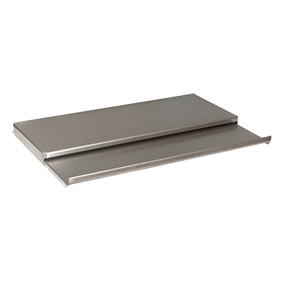 "BK Resources Underbar Ice Bin Lid, 21-1/8""W x 9-1/4""D Sliding Cover, Stainless Steel"