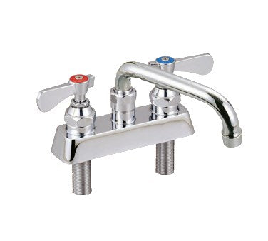 "superior-equipment-supply - BK Resources - BK Resources Optiflow Solid Body Faucet 14"" Swing Spout Polished Nickel Chrome Finish"