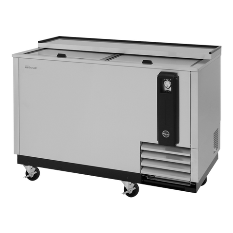 "superior-equipment-supply - Turbo Air - Turbo Air Super Deluxe Stainless Steel Two Sliding Lid 50"" Bottle Cooler"