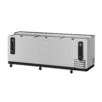 "superior-equipment-supply - Turbo Air - Turbo Air Stainless Steel Three Sliding Lid 95"" Bottle Cooler"