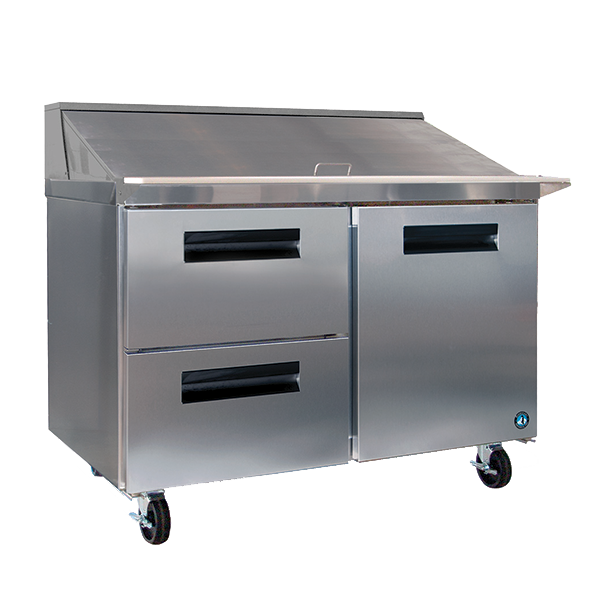 "superior-equipment-supply - Hoshizaki - Hoshizaki Stainless Steel Two Section Two Drawer & One Door 48"" Sandwich Prep Unit"