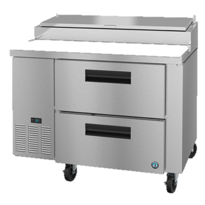 "superior-equipment-supply - Hoshizaki - Hoshizaki Stainless Steel One Section Two Drawer  46"" Pizza Prep Table"