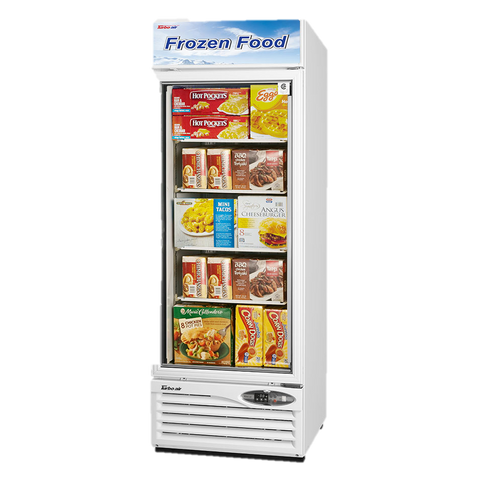 "superior-equipment-supply - Turbo Air - Turbo Air White Exterior One Section Glass Door 27"" Freezer Merchandiser"