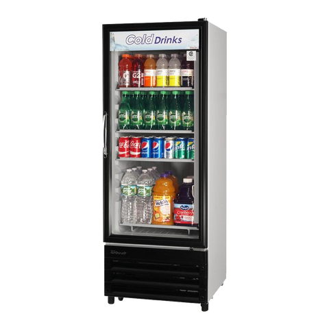 "superior-equipment-supply - Turbo Air - Turbo Air Black Trim Exterior One Section Glass Door 24"" Refrigerated Merchandiser"