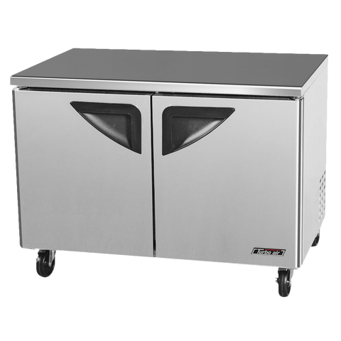 "superior-equipment-supply - Turbo Air - Turbo Air Stainless Steel Two-Section 48.25"" Undercounter Refrigerator"