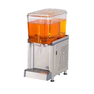 Grindmaster Cecilware Beverage Dispenser Pre-Mix Cold Beverage Dispenser, Electric, Single Spray Model, (1) 4.75 Gallon Clear Plastic Bowl