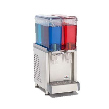 Grindmaster Cecilware Beverage Equipment re-Mix Cold Beverage Dispenser, Electric, Mini Twin Agitator Model, (2) 2.4 Gallon Clear Plastic Bowls