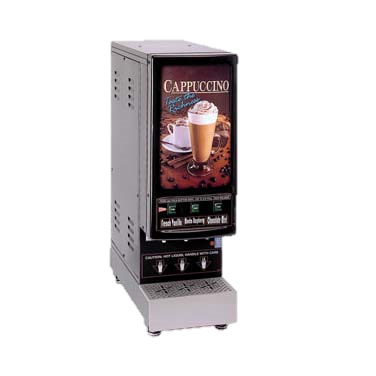 Grindmaster Cecilware GB Hot Powder Cappuccino Dispenser Electric (3) 4 lbs Capacity Hoppers 2 Gallon Capacity Water Tank