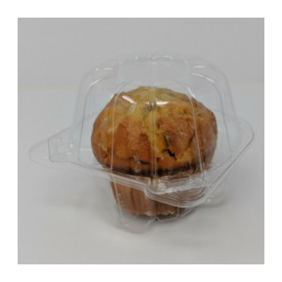 "Clear Cupcake/Muffin 1 Jumbo Cell Hinged OPS Plastic Container 5""W x 5 1/2""D x 4 1/8""H LBN-5101 - 400/Case"